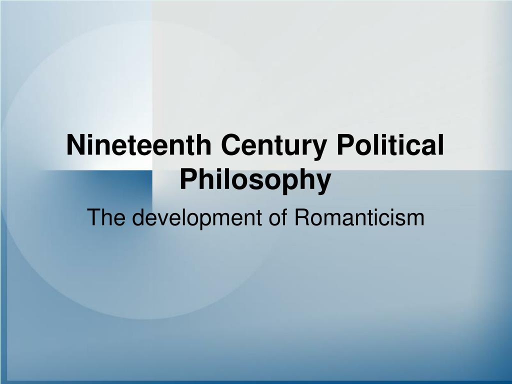 nineteenth century political philosophy