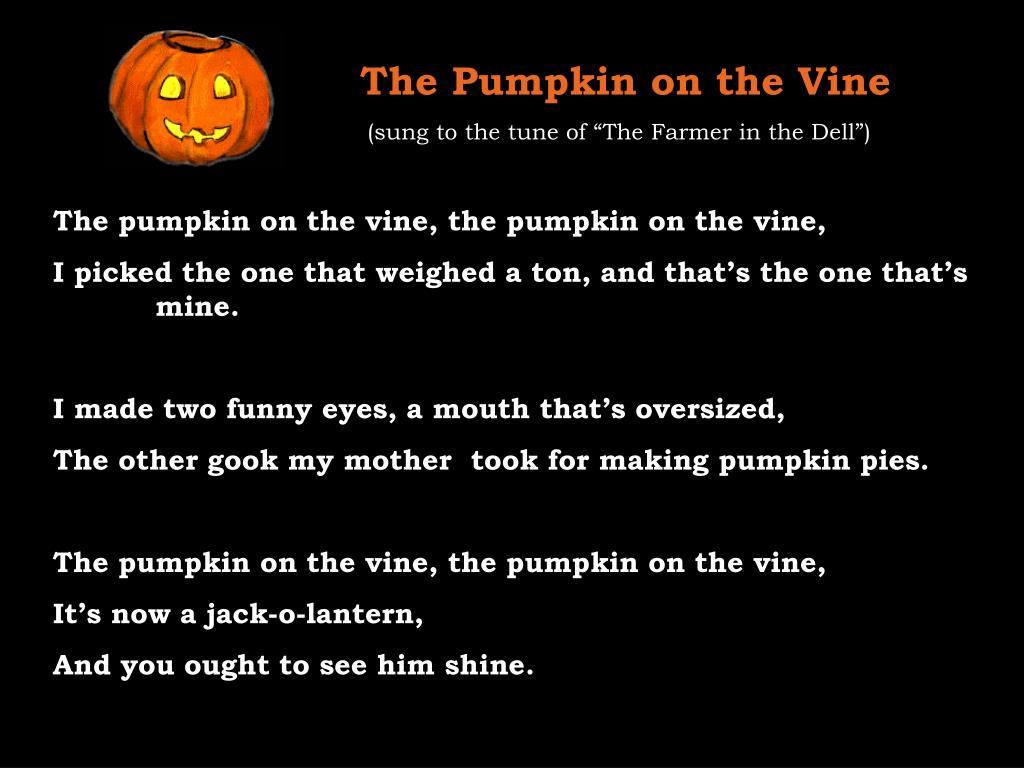 The Pumpkin on the Vine