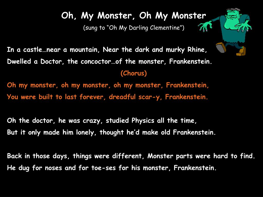 Oh, My Monster, Oh My Monster