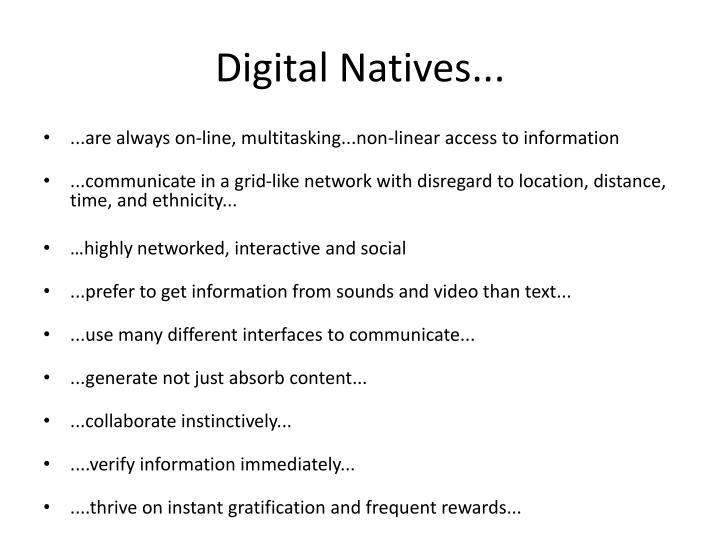 Digital Natives...