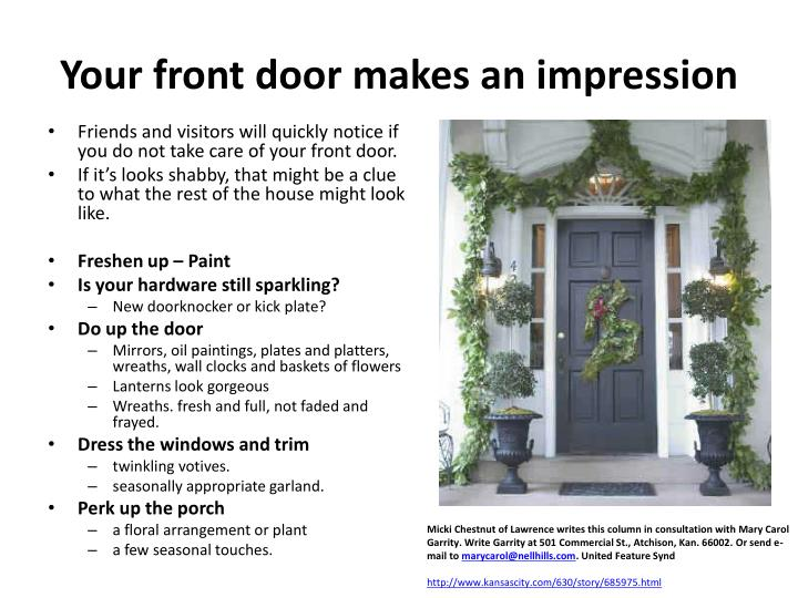 Your front door makes an impression