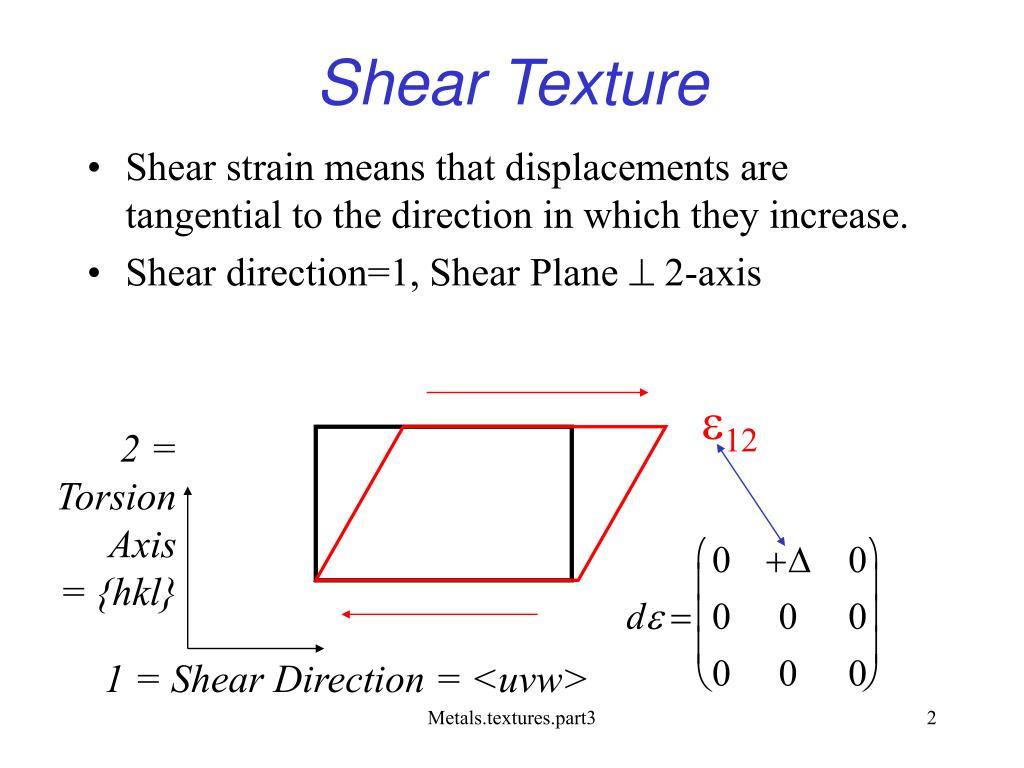 Shear Texture