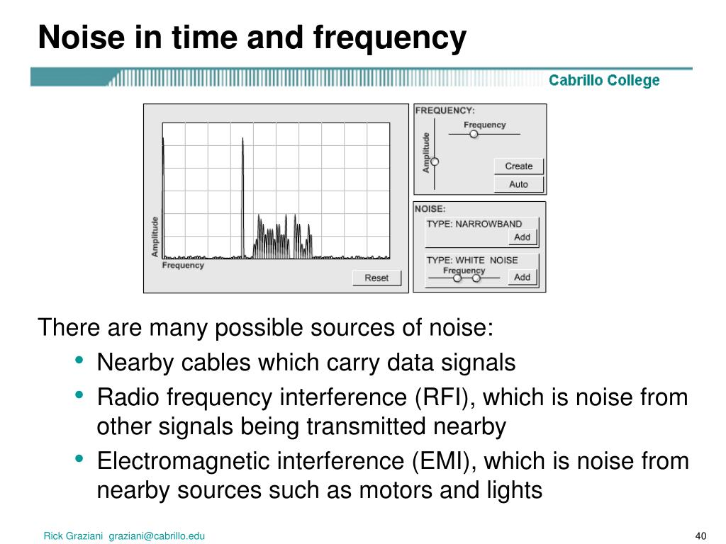 Noise in time and frequency