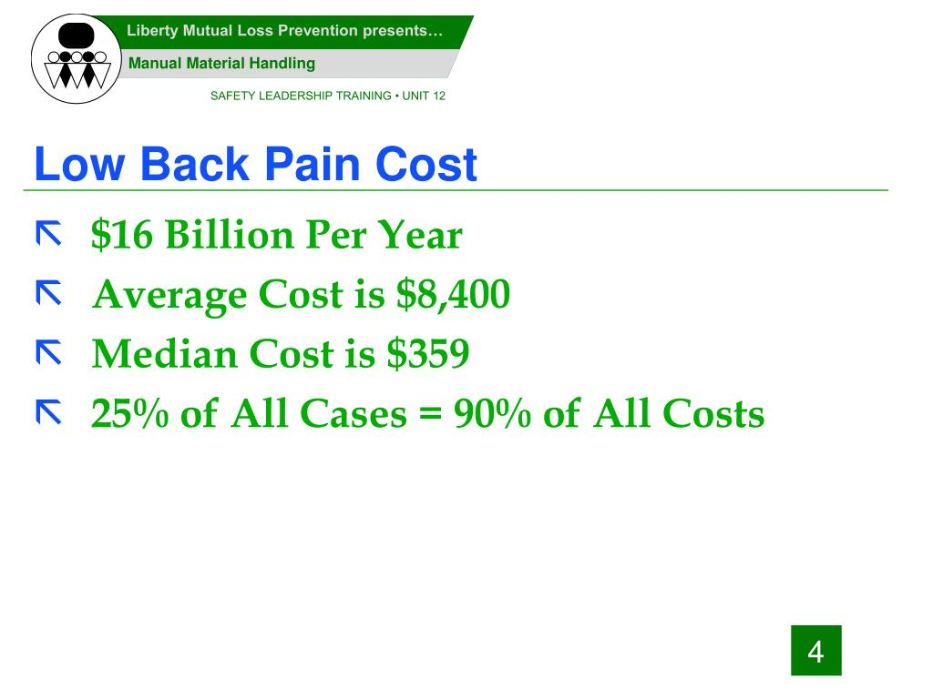 Low Back Pain Cost