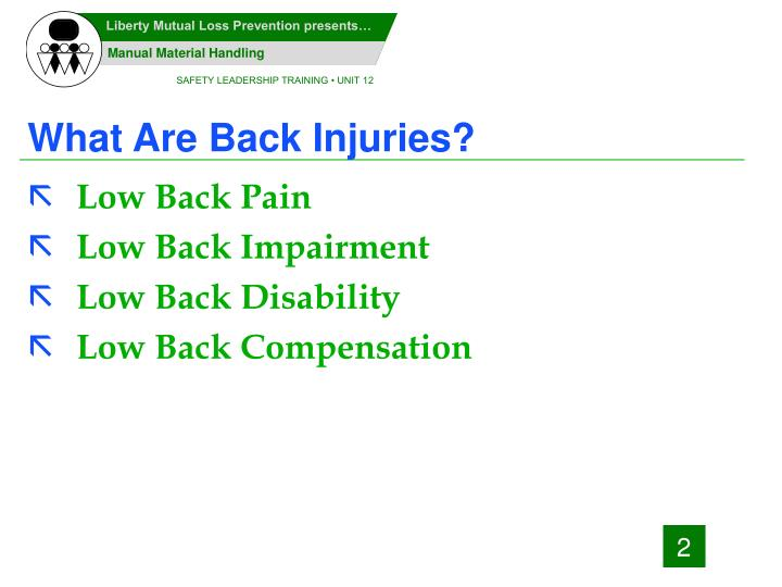 What are back injuries