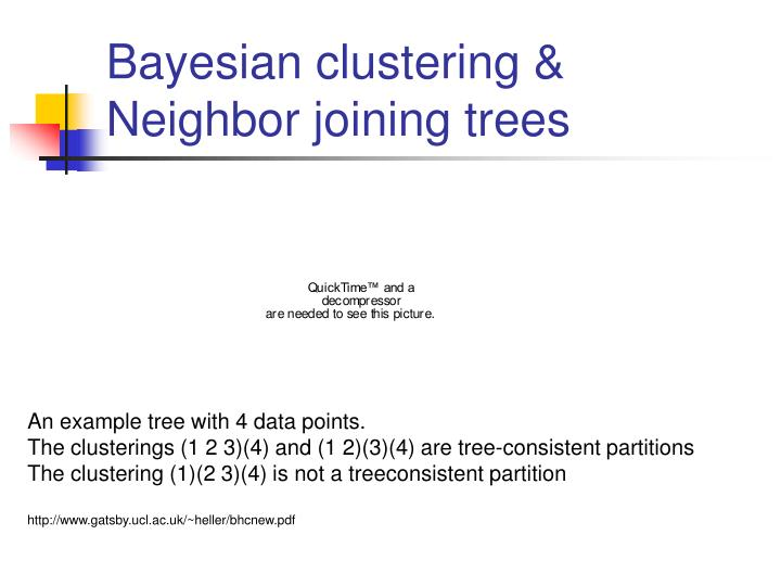 Bayesian clustering &
