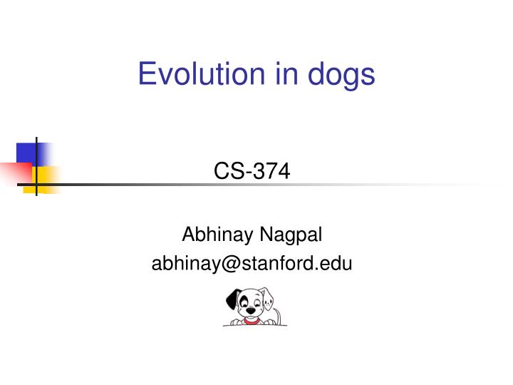 evolution in dogs n.