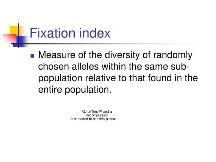 Fixation index