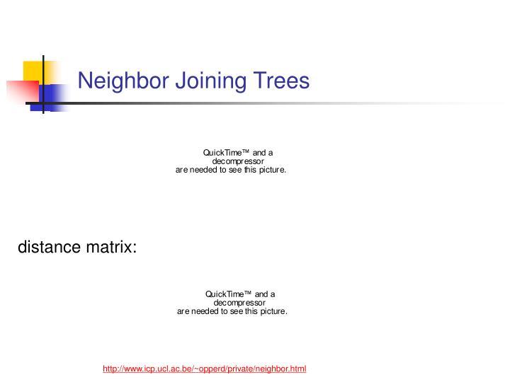 Neighbor Joining Trees