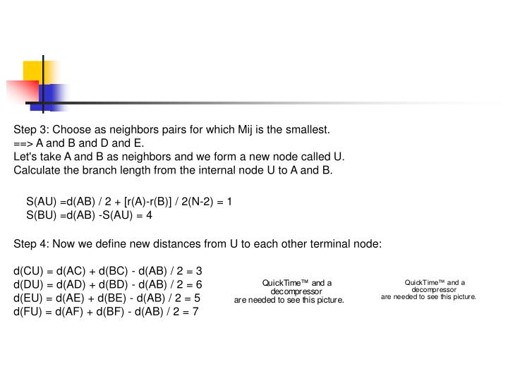 Step 3: Choose as neighbors pairs for which Mij is the smallest.