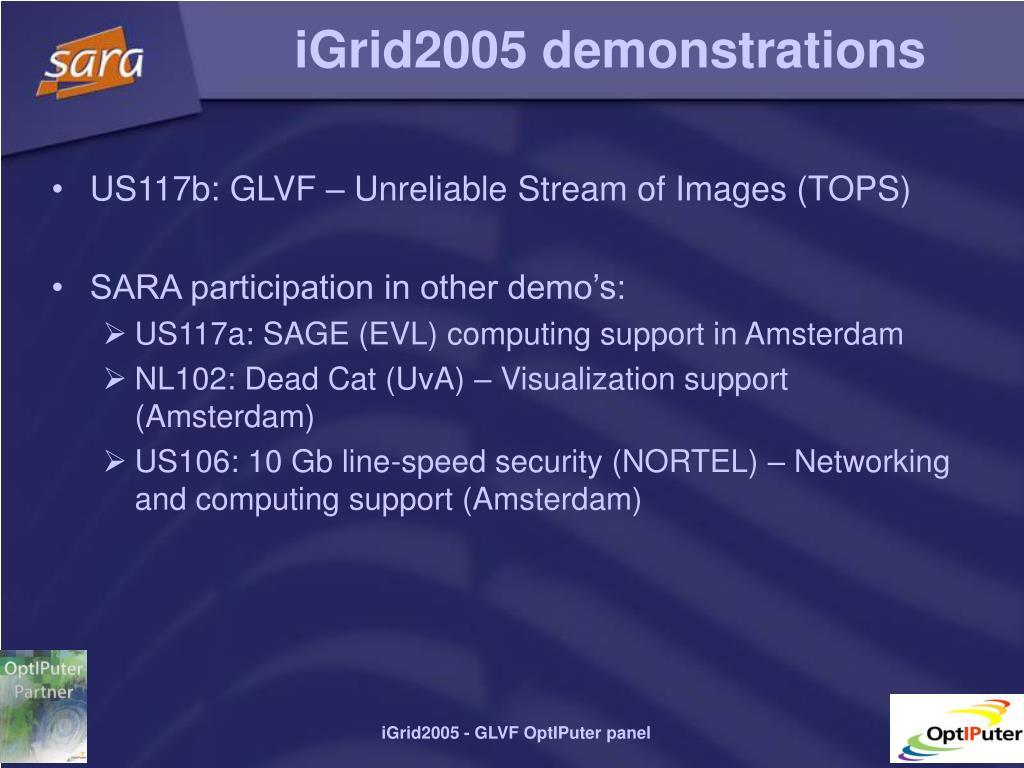 iGrid2005 demonstrations