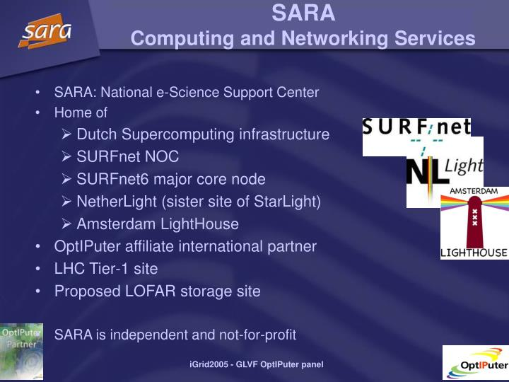 S ara compu ting and networking services