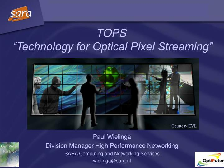 Tops technology for optical pixel streaming