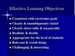 effective learning objectives
