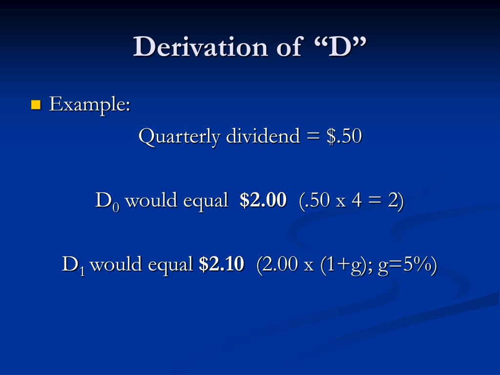 "Derivation of ""D"""