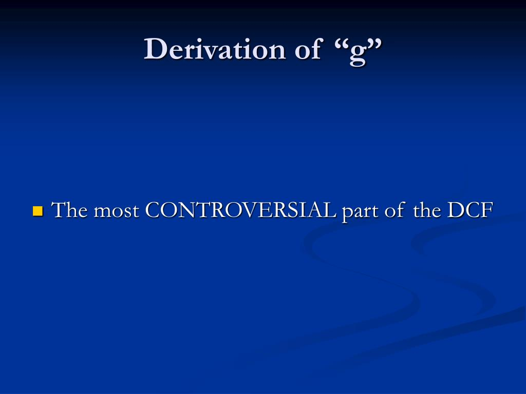 "Derivation of ""g"""