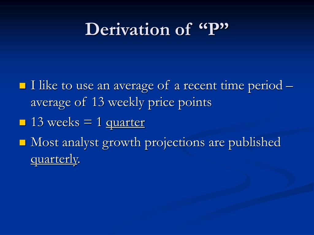 "Derivation of ""P"""