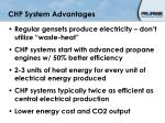 chp system advantages