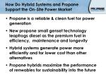 how do hybrid systems and propane support the on site power market