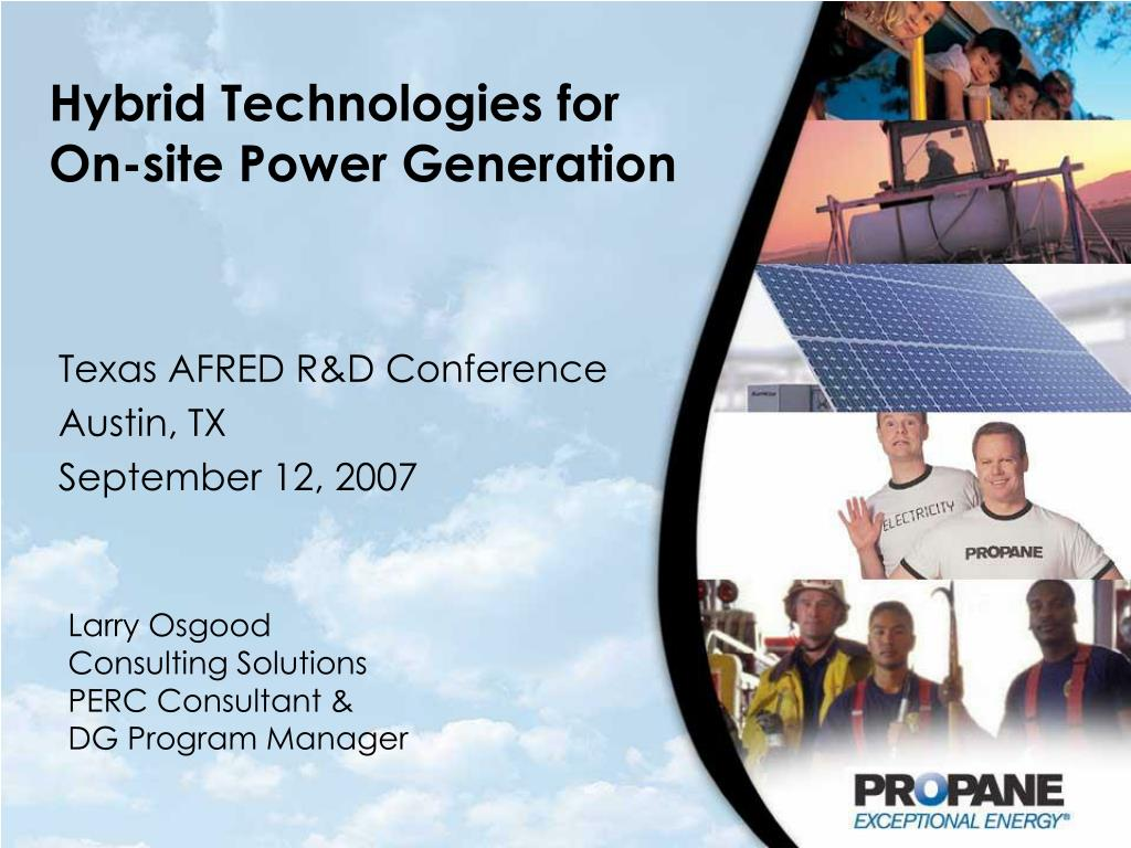hybrid technologies for on site power generation l.