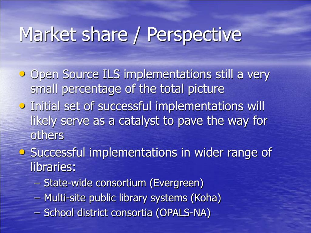 Market share / Perspective