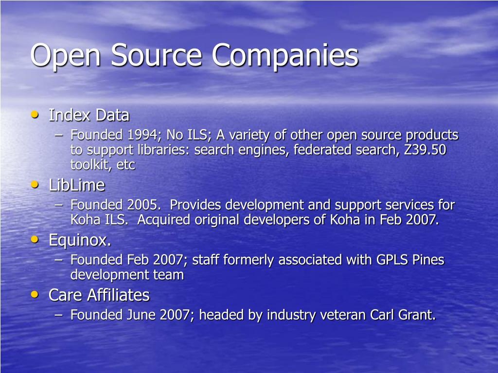 Open Source Companies