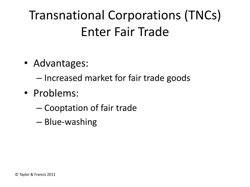 Transnational Corporations (
