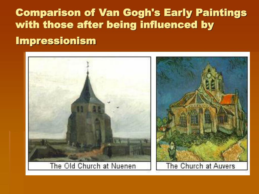 Comparison of Van Gogh's Early Paintings with those after being influenced by Impressionism