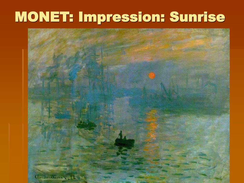 MONET: Impression: Sunrise