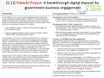 1 11 poliwiki project a breakthrough digital channel for government business engagement