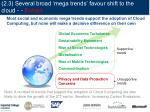 2 3 several broad mega trends favour shift to the cloud extract