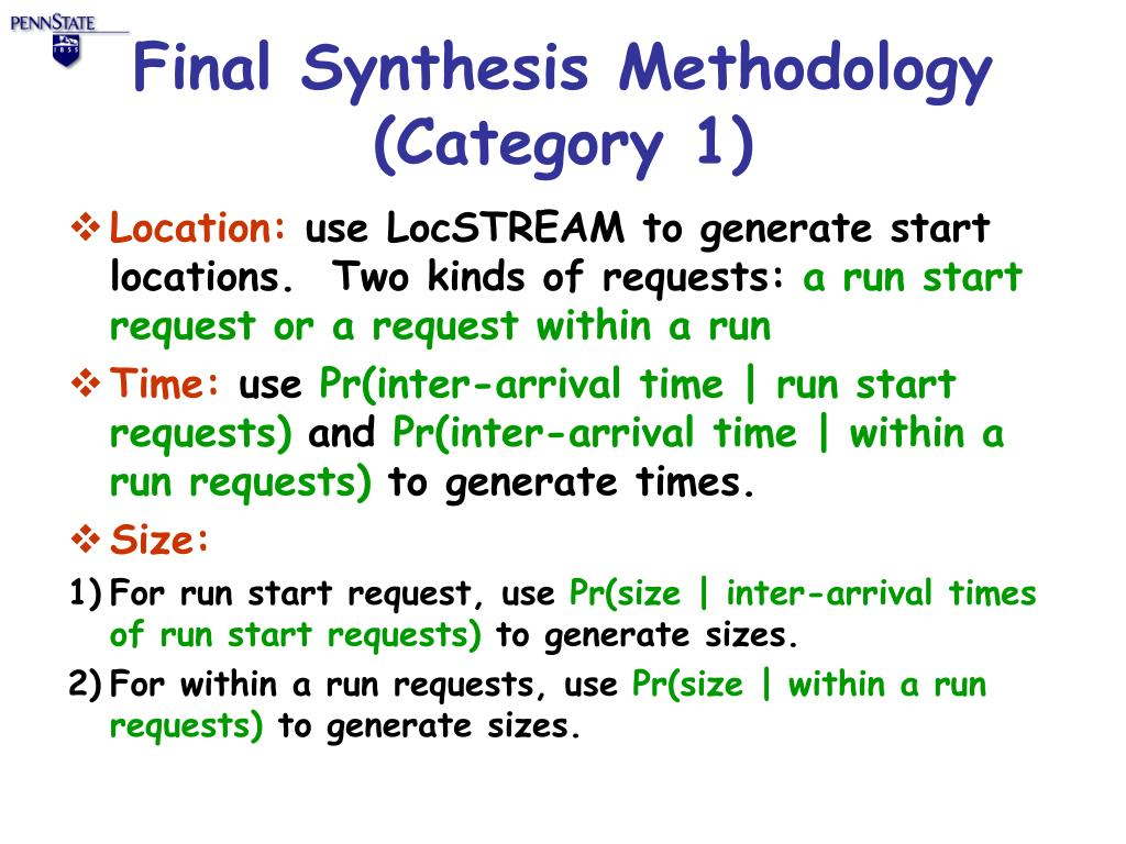 Final Synthesis Methodology (Category 1)