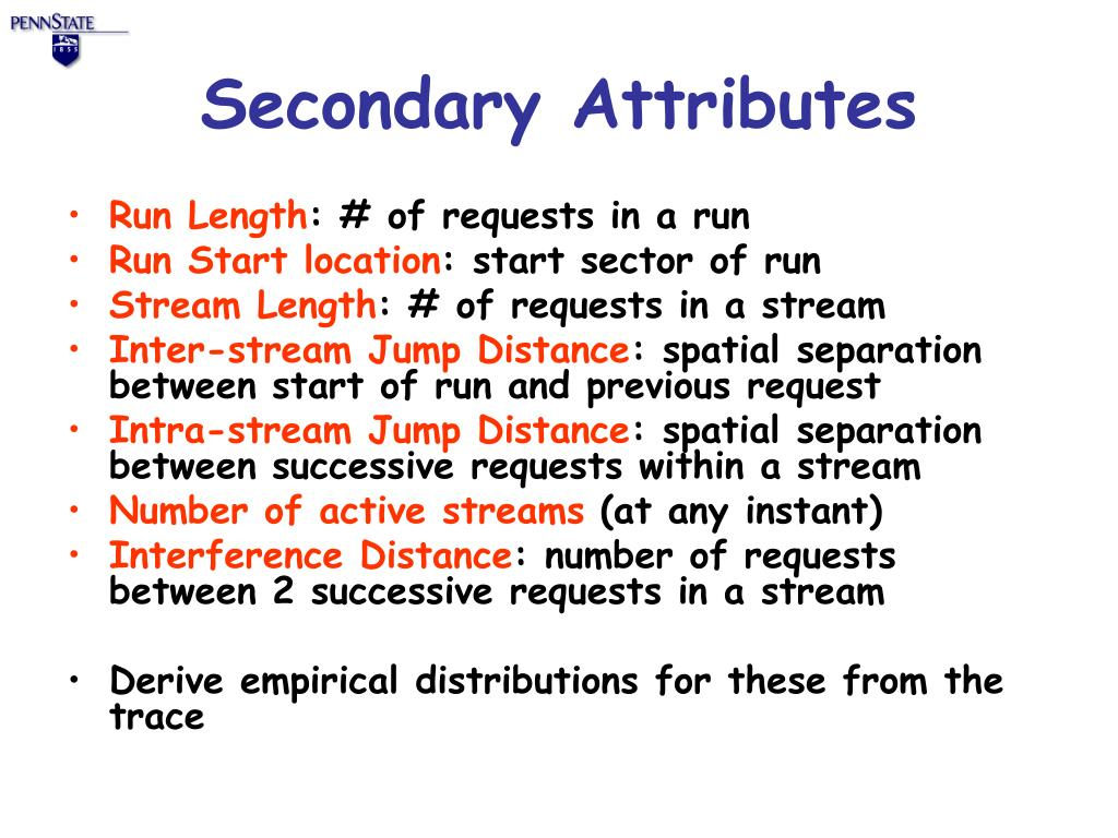 Secondary Attributes
