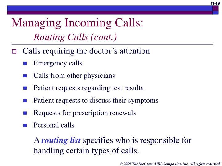 Managing Incoming Calls: