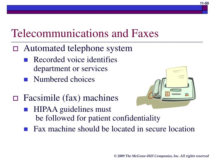 Telecommunications and Faxes