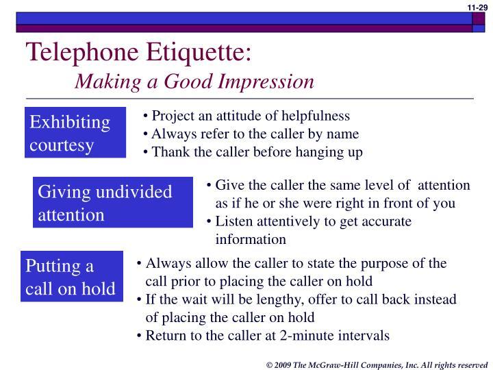 Telephone Etiquette: