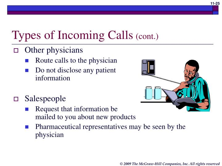 Types of Incoming Calls
