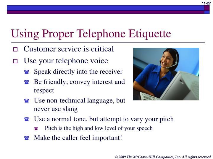 Using Proper Telephone Etiquette