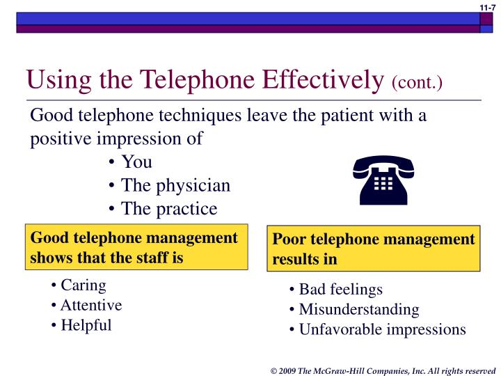 Using the Telephone Effectively