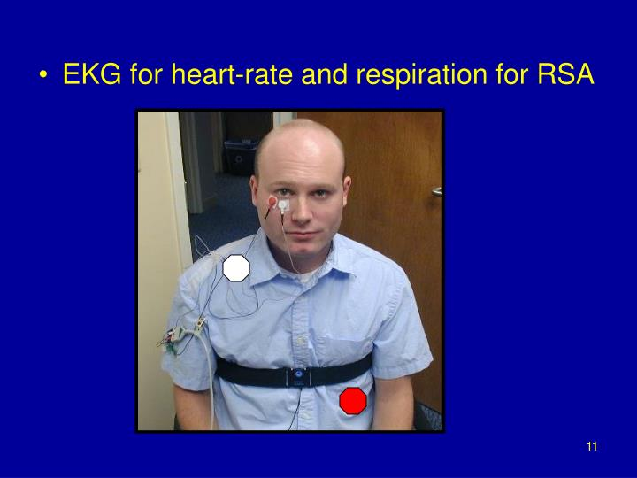 EKG for heart-rate and respiration for RSA