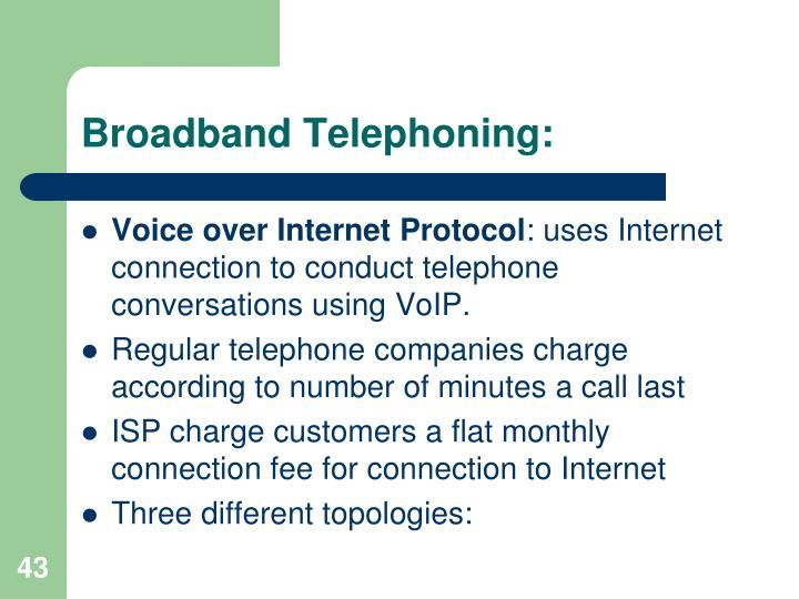 Broadband Telephoning: