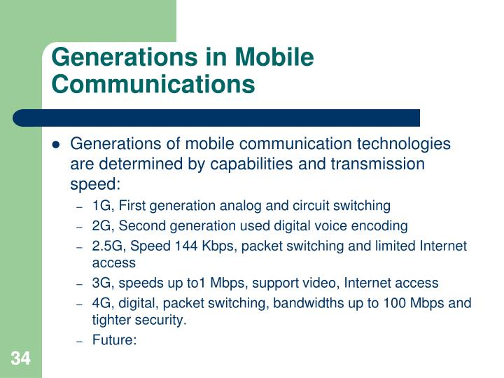 Generations in Mobile Communications