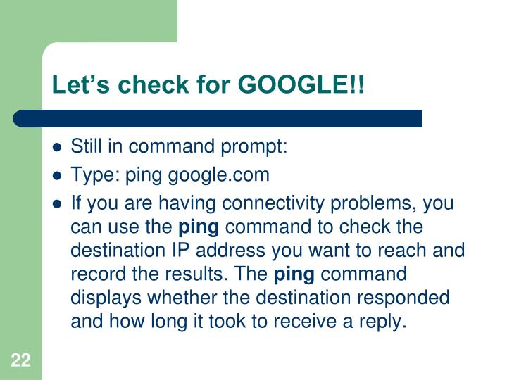 Let's check for GOOGLE!!