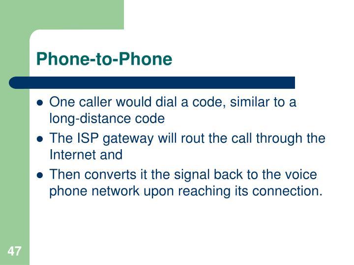 Phone-to-Phone
