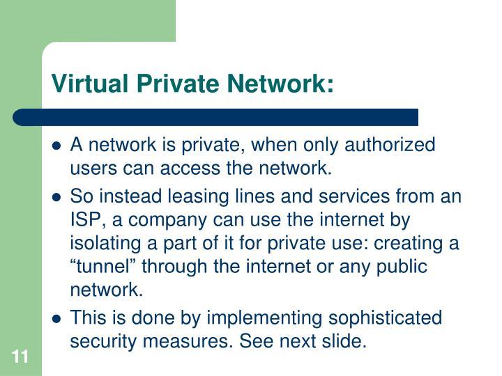 Virtual Private Network: