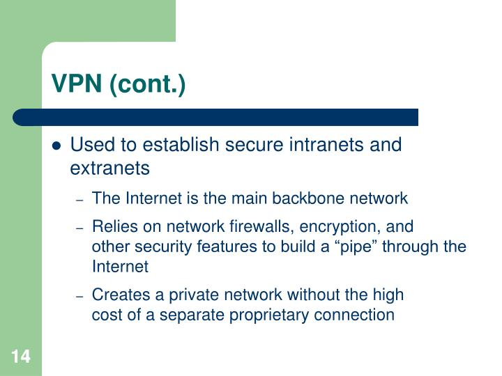 VPN (cont.)