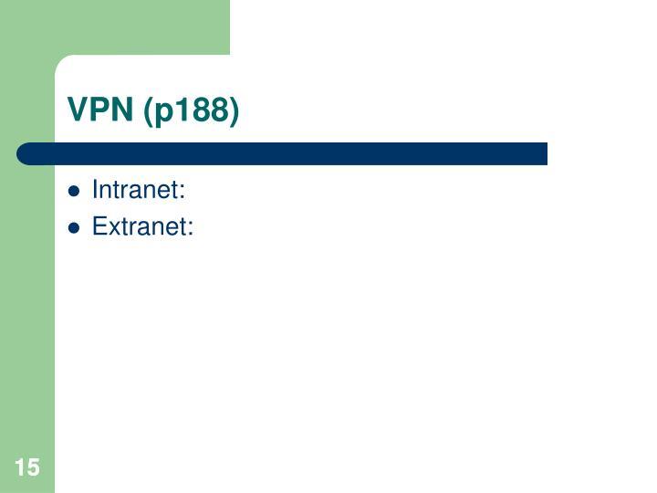 VPN (p188)