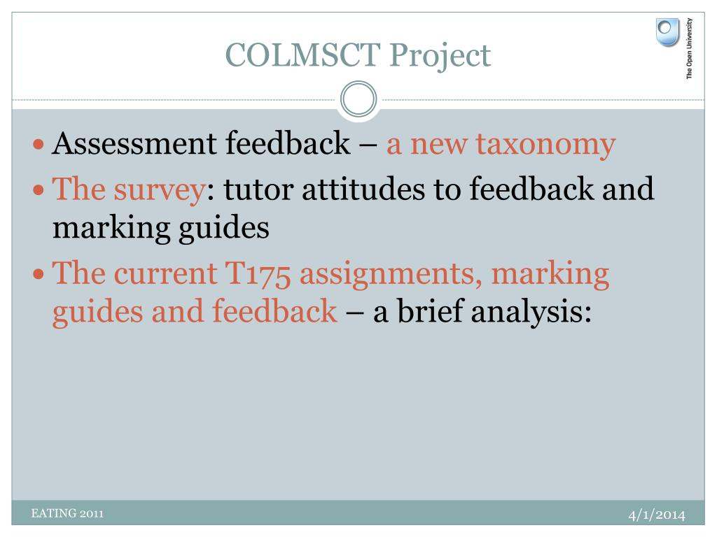 COLMSCT Project