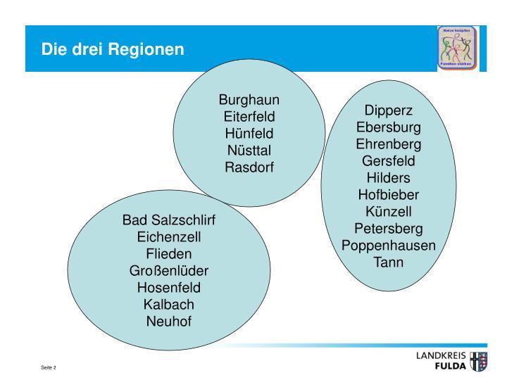 Die drei regionen