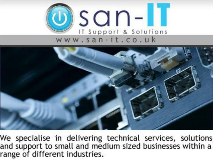 Manchester it services with san it